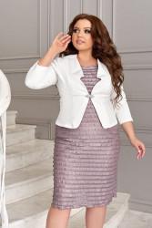 Платья (2ка) женские БАТАЛ оптом 30781549 04 -10