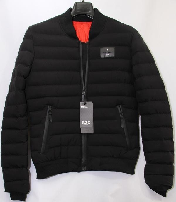 Куртки мужские RZZ чёрные оптом 26071895 8990-34