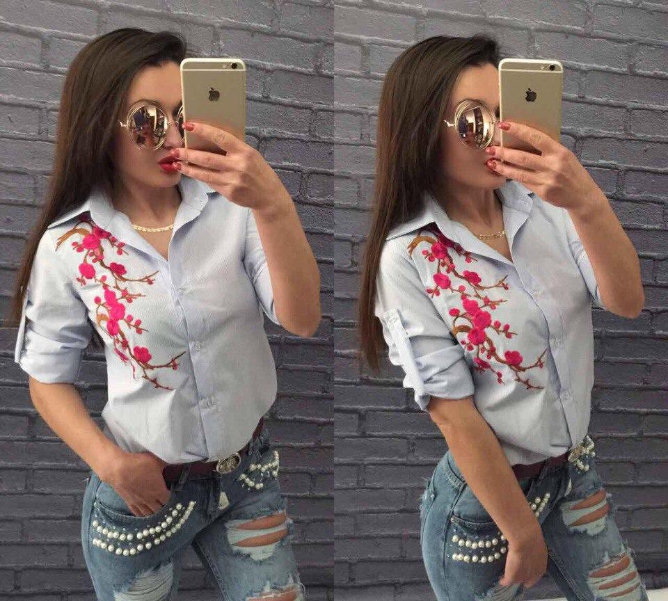 Рубашки женские оптом 10045342 124