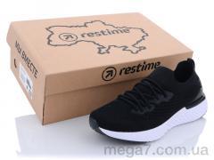 Кроссовки, Restime оптом SWL21833 black-white