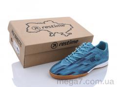 Футбольная обувь, Restime оптом DMB21419 cyan-navy