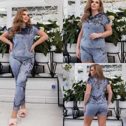 Ночные пижамы (3ка) женские ПОЛУБАТАЛ оптом 54913028 19 -53