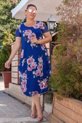 Платья женские БАТАЛ оптом 82149307 001-1