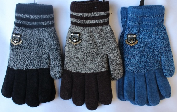 Перчатки детские ( на мальчиков ) оптом 56832091 E1732-1