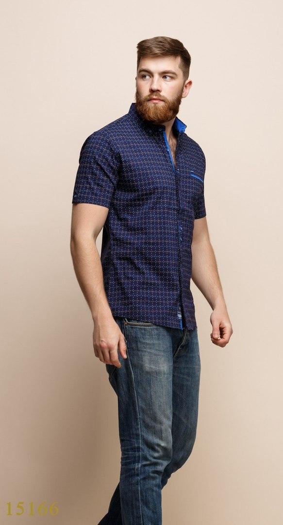 Рубашки мужские Турция оптом  1206133 15166