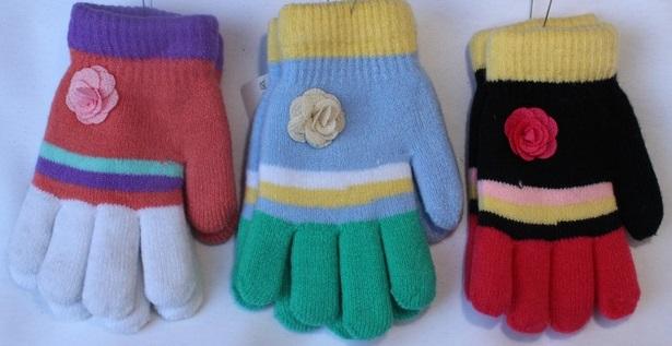 Перчатки детские ( на девочек ) оптом 45398671 С7162-39