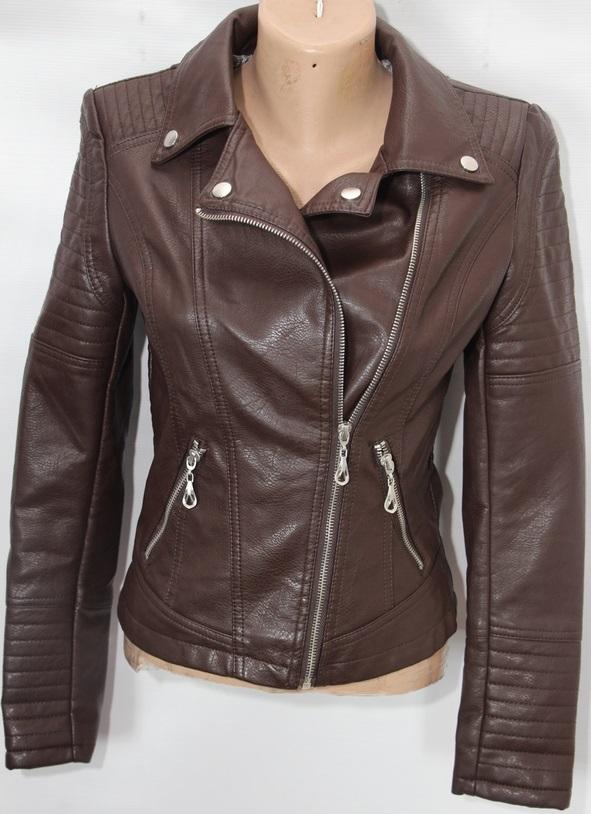 Куртки-косухи женские кожзам оптом 40719268 706