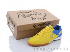 Футбольная обувь, Restime оптом DWB21505 yellow-blue