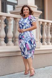 Платья женские БАТАЛ оптом 27401586 03-5
