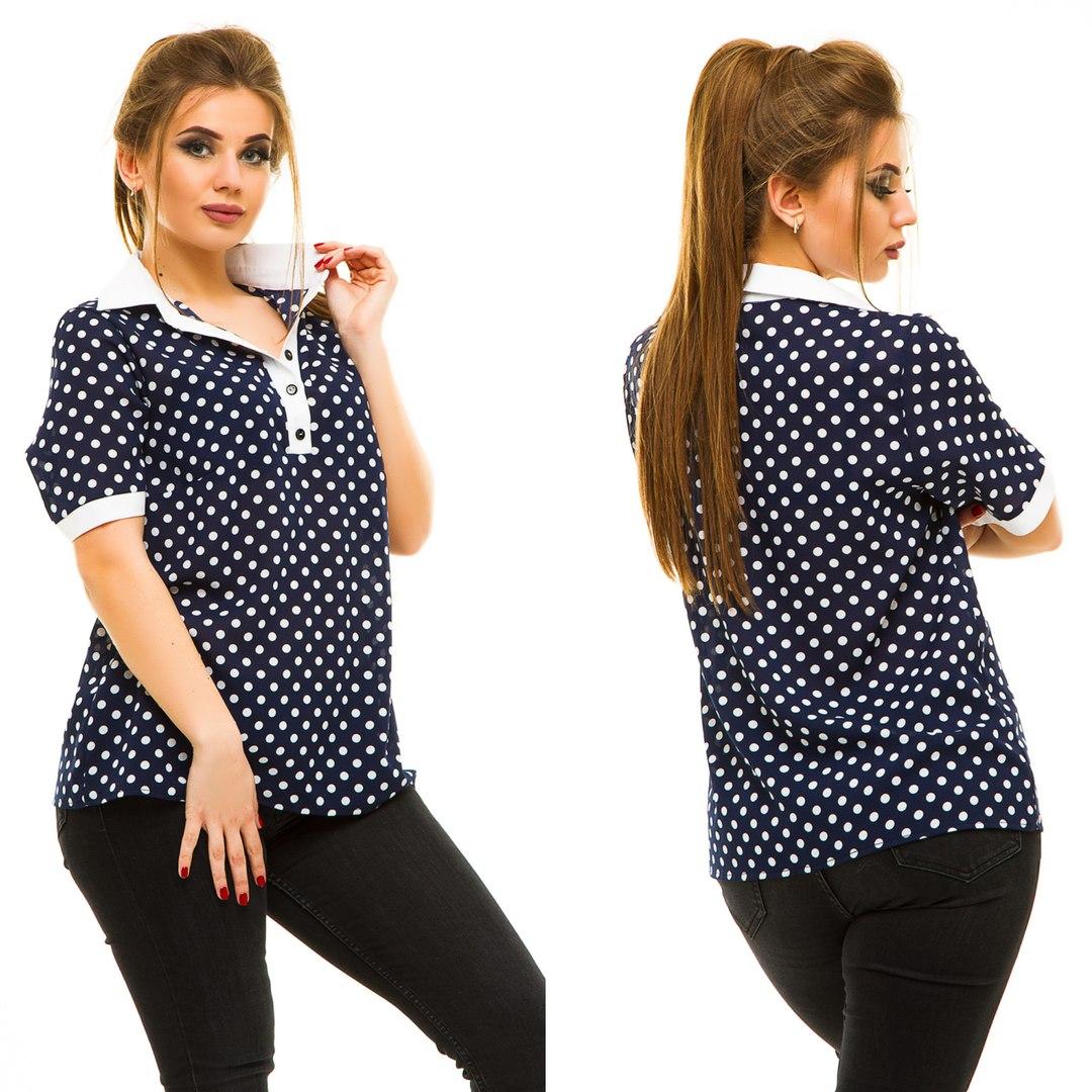 Блузы женские батал  оптом 05064683 5014-30