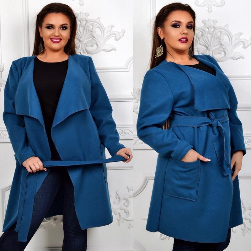 Пальто женские БАТАЛ оптом 24095540 015-9