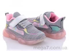 Кроссовки, Clibee оптом F31 grey-pink
