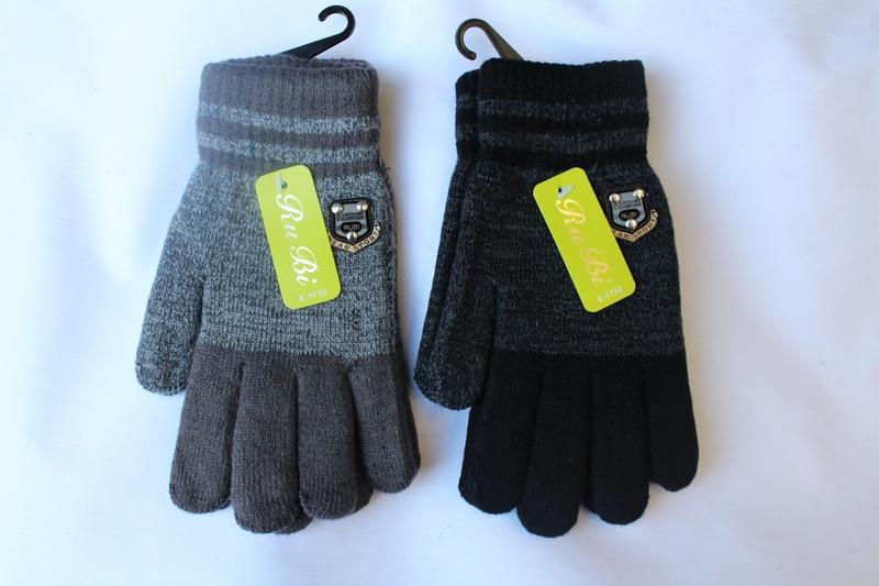 Перчатки детские ( на мальчиков ) оптом 07426398 E1732-2