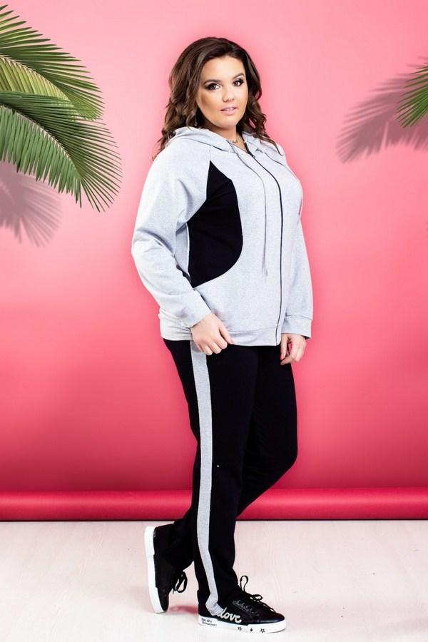 Спортивные костюмы женские Батал оптом 98402736 408