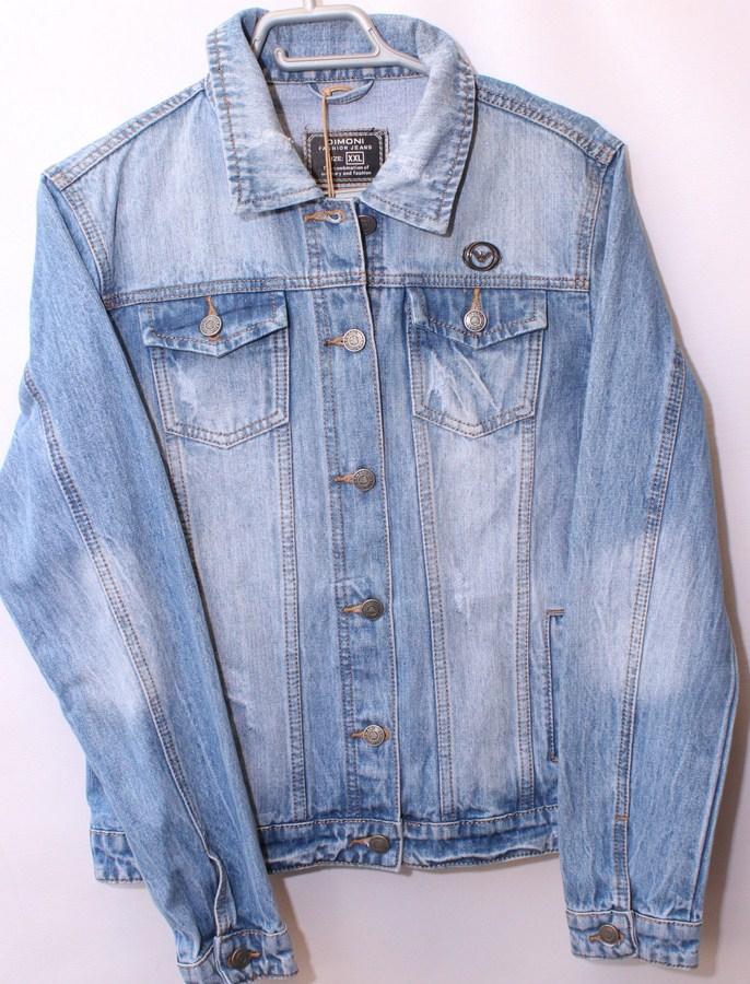 Куртки джинсовые женские  DIMONI оптом 24756831 1077