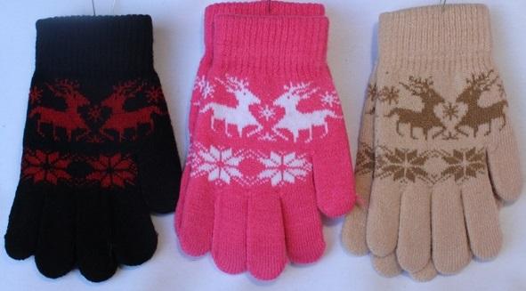 Перчатки детские ( на девочек ) оптом 19568734 С7106-1
