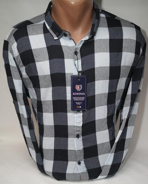 Рубашки мужские Турция оптом  11094721 003-6