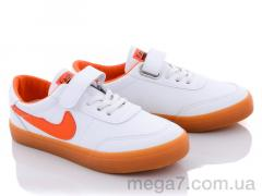 Кроссовки, Violeta оптом Q27-A63363 white-orange