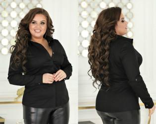 Рубашки женские БАТАЛ оптом 96435780  70-41