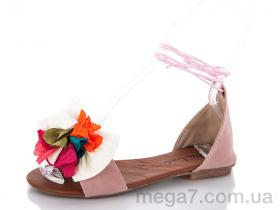 Босоножки, Selena оптом ПВС сандаль пудра шнурок