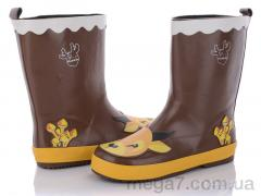 Сапоги резиновые, Class Shoes оптом HMY207 коричневый