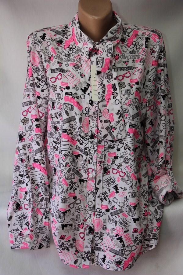 Блузы женские БАТАЛ оптом 05043030 64-1-1