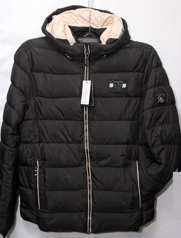 Куртки мужские чёрные зимние H.F.X.F оптом 03615829 710-4