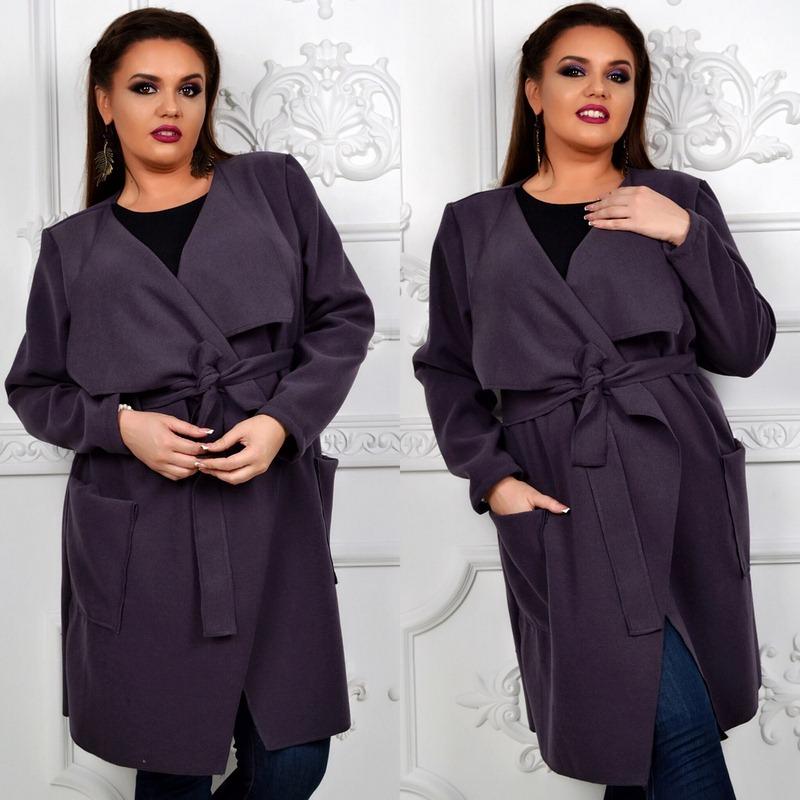 Пальто женские БАТАЛ оптом 24095540 015-10