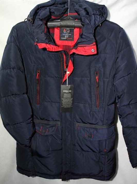 Куртки мужские тёмно синие зимние оптом 90187452 466-3