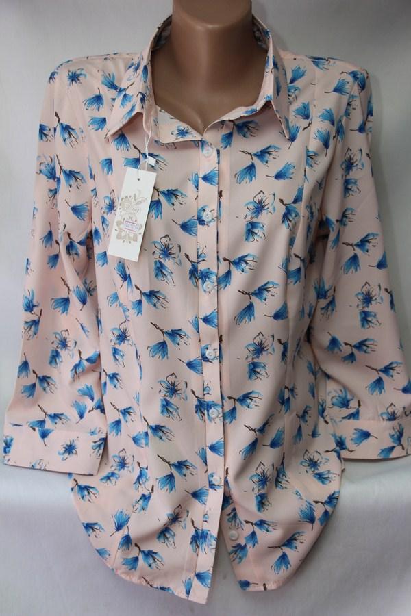 Блузы женские БАТАЛ оптом 05043030 122-3