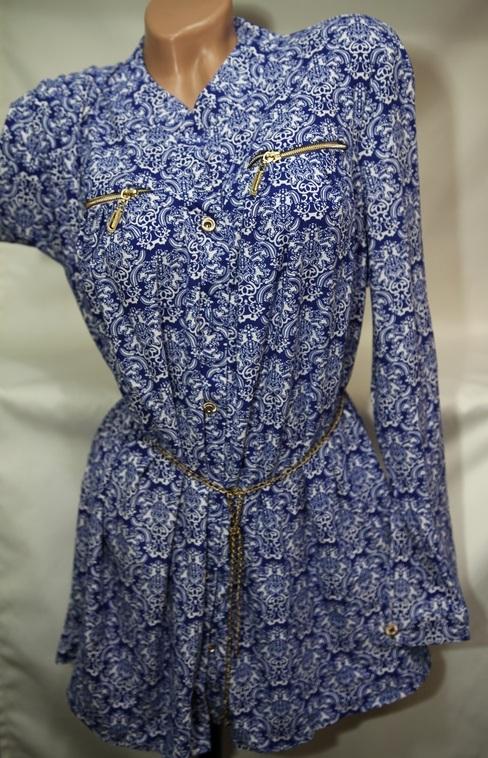Рубашки женские Батал оптом 16093030 106-1-1