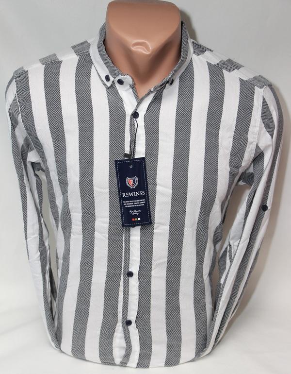 Рубашки мужские Турция оптом 61543897 01-58