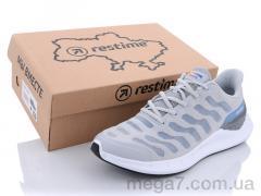 Кроссовки, Restime оптом SML21838 gray-l.gray-periwinkle
