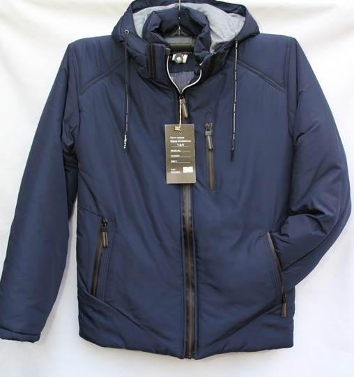 Куртки мужские тёмно синие оптом 1009404 0333-30
