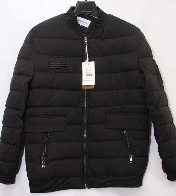 Куртки мужские MEILIXIANFENG чёрные оптом 13894265 8865-1
