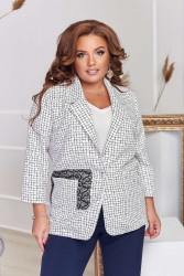 Пиджаки женские БАТАЛ оптом 85631792   09-14