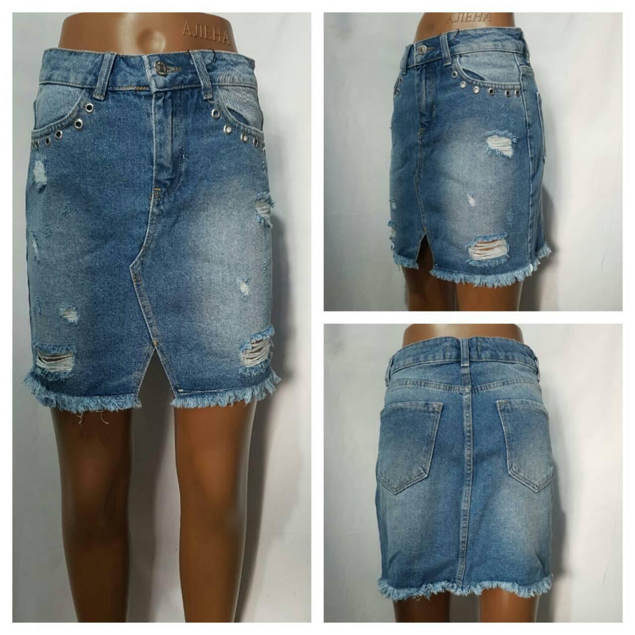Джинсовые юбки женские оптом 46759803 1-6