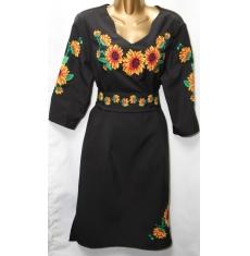 Платье вышитое женское оптом Батал 14071353 057