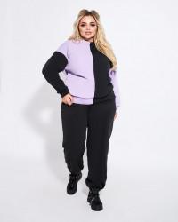 Спортивные костюмы женские с начесом БАТАЛ оптом 68374029 1498-11