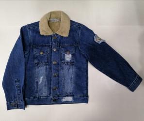 Куртки джинсовые детские оптом 91073285  7034-6