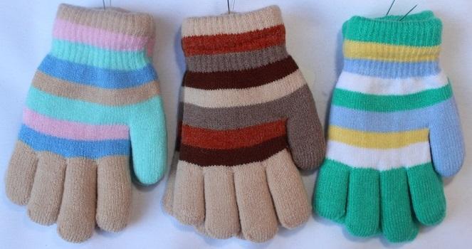 Перчатки детские ( на девочек ) оптом 59187036 С7163-2