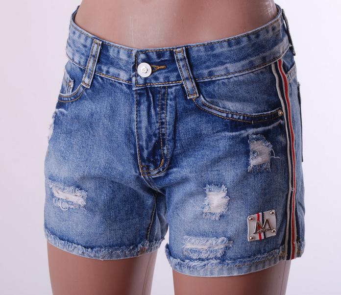 Джинсовые шорты женские оптом 30128795 8806