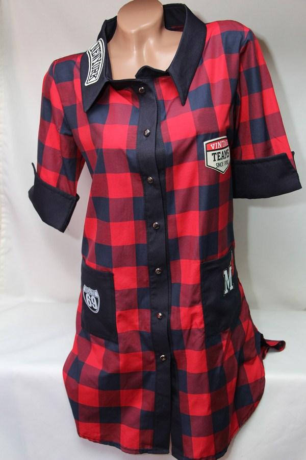 Рубашки - туники женские оптом 22033038 942-4