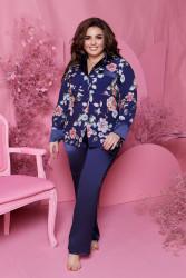 Ночные пижамы  женские БАТАЛ оптом 75081629 21   -61