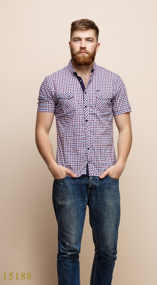 Рубашки мужские Турция оптом  1206133 15188