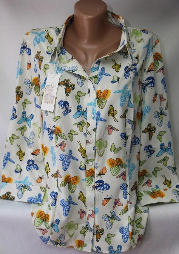 Блузы женские БАТАЛ оптом 05043030 122-1