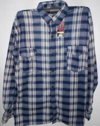 Рубашки мужские TIANLEFU на байке оптом 76904318 22-77
