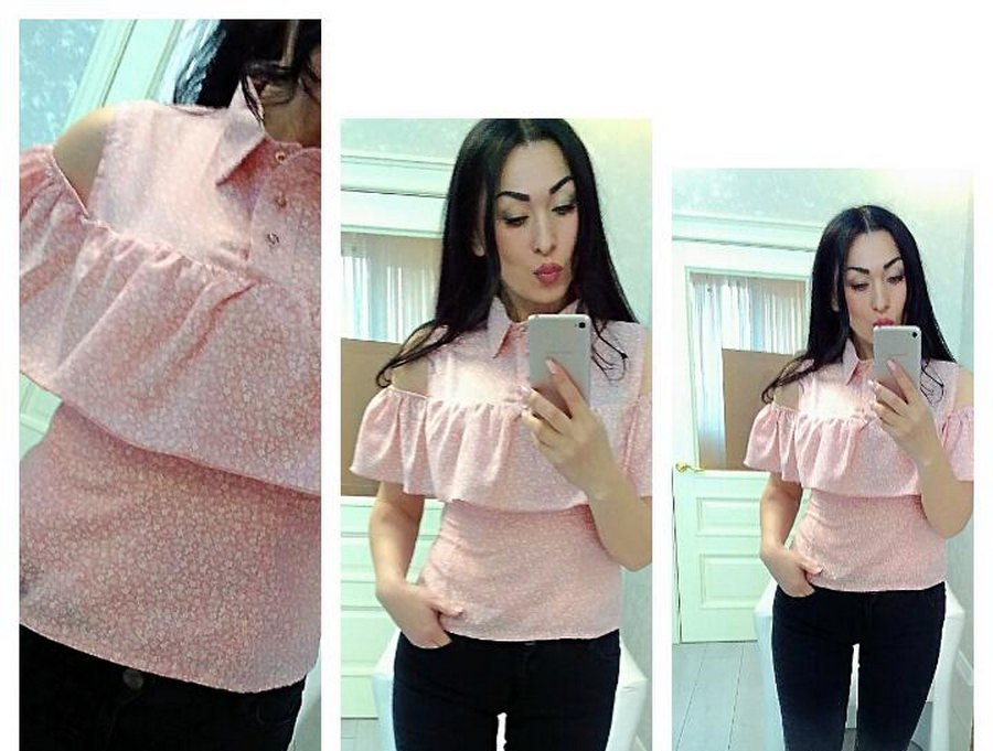 Блузы женские оптом 07053655 2714-2