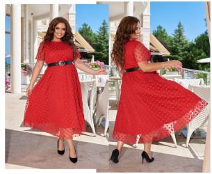 Платья женские БАТАЛ  оптом 93042571 4090-8