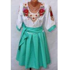 Платье вышитое женское оптом 1307782 001